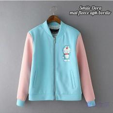 KEI'S jaket sweater wanita doraemon bordir turqis fashion wanita termurah
