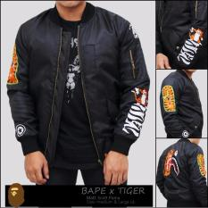 Jual Kei S Jaket Bomber Pria Bape Tiger Online Jawa Barat