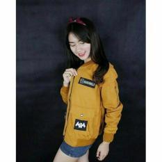 KEIS'S jaket marsmaello bomber yellow bahan baby canvas