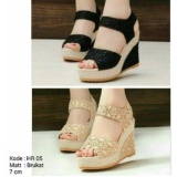 Keke Shoes Sepatu Sandal Wadges Brukat Tali Jawa Timur