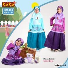 Kekesumut Baju Gamis Katun Anak perempuan GM 461 size 2 Pusat Grosir Busana Muslim Keke Branded Original Discount