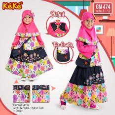 Kekesumut Baju Gamis Katun Anak Perempuan GM 474 Pusat Grosir Busana Muslim Keke Branded Original