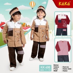 Kekesumut Baju Koko Katun Anak Laki Laki KK 496 size 6 Pusat Grosir Busana Muslim Keke Branded Original