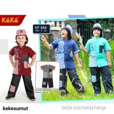 Kekesumut Baju Koko Katun Anak Laki Laki KP 484 size 10 Pusat Grosir Busana Muslim Keke Branded Original