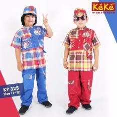 Kekesumut Baju Koko Katun Anak Laki Laki size 6 KP 325 Pusat Grosir Busana Muslim Keke Branded Original Sale Cuci Gudang terbatas