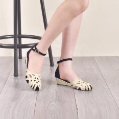 Harga Bebbishoes Bebbishoes Laser Wedges Heels Cream Original