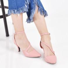 Beli Bebbishoes Hayley Heels Pink Pake Kartu Kredit