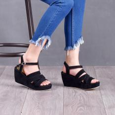 Bebbishoes-Shalom Wedges Heels-Black