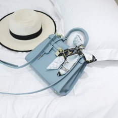 Kelly Tas Model Hermes Mini Tas Bahu Dengan Satu Tali Tas (Light Blue) Tas Tas Wanita Tas Selempang Wanita Tas Mini Wanita