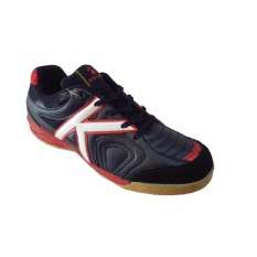 Kelme Evolution 10102004-sepatu futsal-Black/white/red