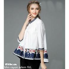 Jual Kem Fika Bahan Katun Rayon Adem Fit Size L Kancing Hidup 1R Original