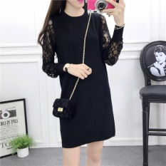 Kemas Pinggul Ukuran Besar Setengah Panjang Model Baju Dalaman Rok Dalaman (Hitam (Kualitas Yang Baik/Ganda 12 Kendur Harga)) baju wanita dress wanita Gaun wanita