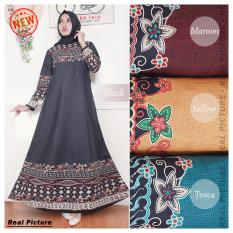 Kembar Gamis  Maxi Dress Sarah- Black (No Pasmina )