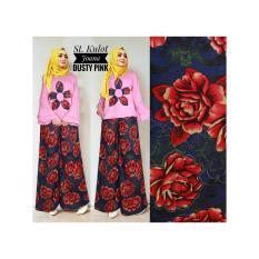 Kembar Stelan Celana Kulot Plus Blouse Joana Dusty Pink No Pasmina