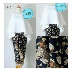 Kembar Stelan Kebaya Batwing Donita Plus Rok Batik Warna FantaIDR289000. Rp 289.000