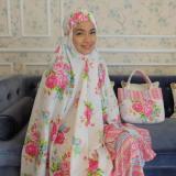 Spek Kembar Stelan Mukena Katun Jepang Tikam Flow Pink Indonesia