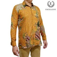 Toko Kemeja Batik Excellent Kilap Panjang Emas Excellent Cokelat Batik Excellent Online