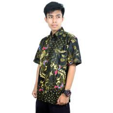 Kemeja Batik Katun Pria, Batik Kerja Kantor Lengan Pendek (HKS001-05) Batikalhadi Online