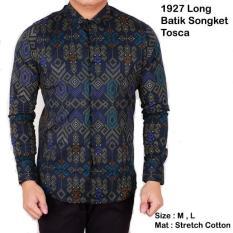 Kemeja Batik Lengan Panjang Pria Cowok / Baju Batik Songket Modern