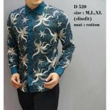 Spesifikasi Kemeja Batik Pria Baju Batik Modern Baju Lengan Pendek Slimfit Kemeja Kantor Pria D520 Terbaru