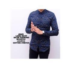 Kemeja Batik Pria / Baju Pria Lengan Panjang / Batik Jogja Murah D389