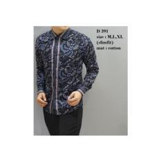 Kemeja Batik Pria / Baju Pria Lengan Panjang / Batik Jogja Murah D391