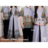 Harga Hemat Uc Couple Kemeja Batik Pria Couple Gamis Syari Syar I Muslim Kebaya Dress Wanita Set Muslim Ncanake Ss Abu