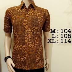 Baju Kemeja Batik Pria Khas Pekalongan Murah Bagus Gold