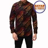 Promo Kemeja Batik Pria Lengan Panjang Batik Songket Long Gradation Akhir Tahun