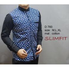 Baju Kemeja Baju Batik Pria Lengan Panjang Slim Fit D 760