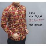 Harga Kemeja Batik Pria Slim Fit Modern Asli