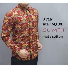 Harga Kemeja Batik Pria Slim Fit Modern Original