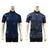 Spesifikasi Kemeja Batik Pria Slimfit 7083 Dark Blue Koko Kombinasi Muslim Jeans Lengkap Dengan Harga