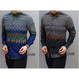 Kemeja Batik Pria Slimfit Ls1137B Black Koko Kombinasi Muslim Jeans Asli