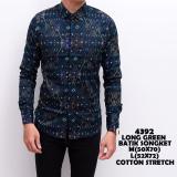 Spesifikasi Kemeja Batik Pria Songket Murah Baju Kerja Cowok Slimfit Lengan Panjang Kaos Casual Keren Lengkap Dengan Harga