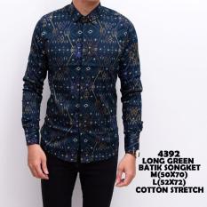 Katalog Kemeja Batik Pria Songket Murah Baju Kerja Cowok Slimfit Lengan Panjang Kaos Casual Keren Batik Terbaru