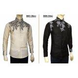 Beli Kemeja Batik Slimfit 8669 Black Kombinasi Muslim Koko Jeans Pria Yang Bagus