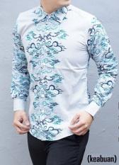 Jual Kemeja Batik Slimfit H952A Pria Kombinasi Muslim Koko Jeans Branded Murah