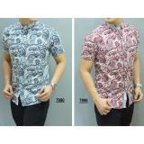 Beli Kemeja Batik Slimfit Pria 7990 Blue Kombinasi Muslim Koko Jeans Online