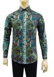 Beli Kemeja Batik Slimfit Pria B8176 Kombinasi Muslim Koko Jeans Murah Dki Jakarta
