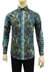Iklan Kemeja Batik Slimfit Pria B8176 Kombinasi Muslim Koko Jeans