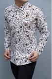 Jual Beli Kemeja Batik Slimfit Pria H917B Kombinasi Muslim Koko Jeans Di Indonesia