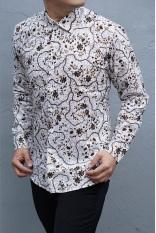 Harga Kemeja Batik Slimfit Pria H917B Kombinasi Muslim Koko Jeans Herman