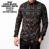 Toko Kemeja Batik Kerja Kondangan Songket Pria Black Panjang Kantor Slimfit Baju Batik Lengkap