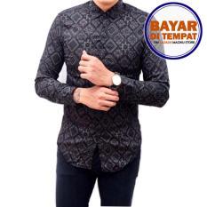 Diskon Kemeja Batik Songket Pria Lengan Panjang Kemeja Batik Slimfit Modern Mck