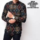 Jual Kemeja Batik Songket Pria Lengan Panjang Kemeja Lengan Panjang Atasan Formal Batik Songket Pria Distro Premium Indonesia
