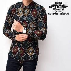 Beli Kemeja Batik Songket Pria Lengan Panjang Kemeja Lengan Panjang Atasan Formal Batik Songket Pria Distro Premium Tidak Ada Merek Online