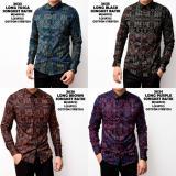 Harga Kemeja Batik Kerja Songket Pria Panjang Kerja Kantor Slimfit Baju Batik Universal Online