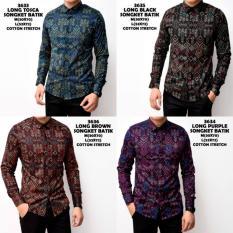Toko Kemeja Batik Kerja Songket Pria Panjang Kerja Kantor Slimfit Baju Batik Yang Bisa Kredit