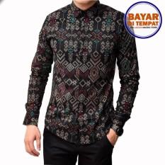 Maciku Kemeja Batik Songket Pria Slimfit   Kemeja Batik Kerja Baju batik  kantor 3132819eb5
